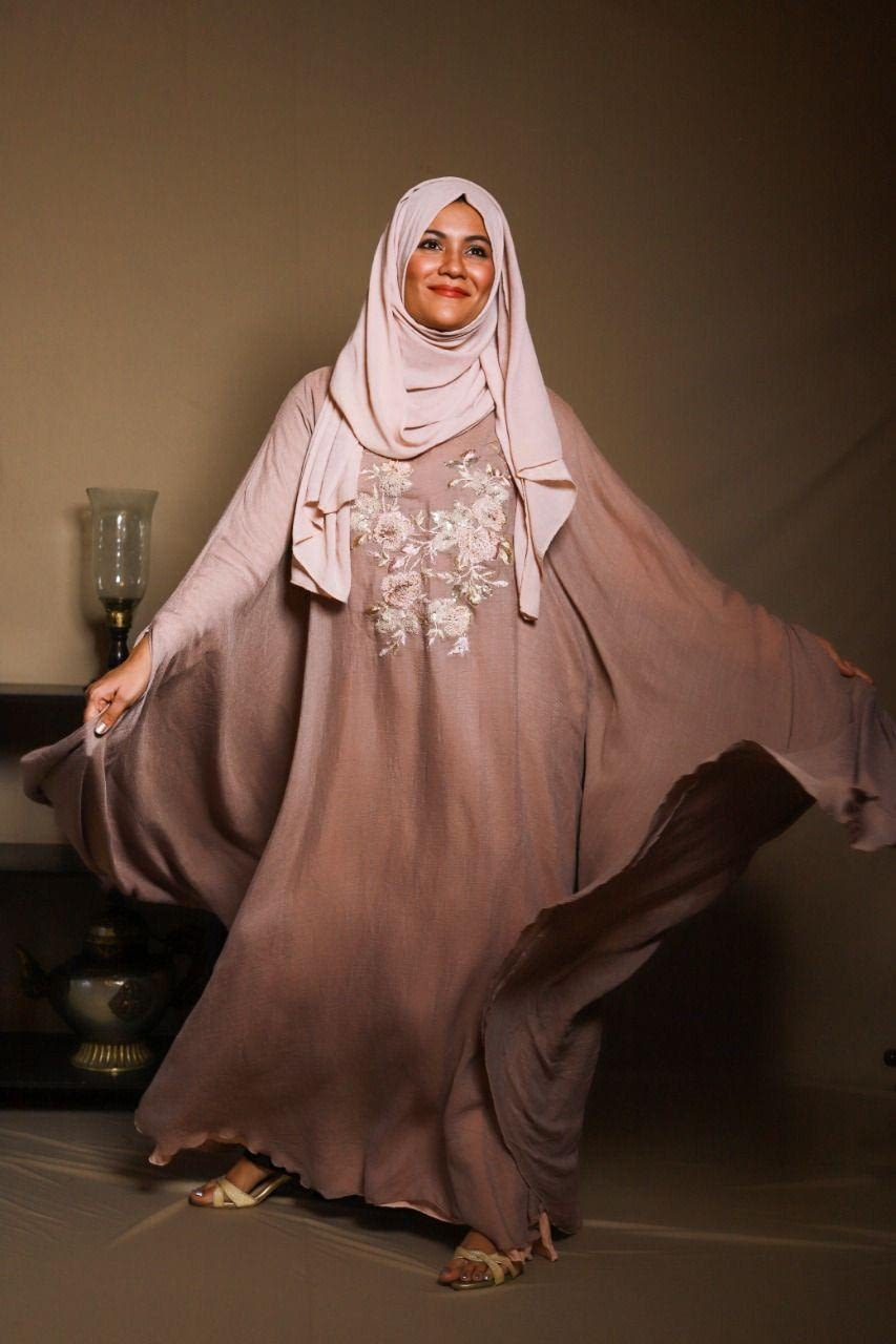 Wild Rose Cape Gown-Light Pink
