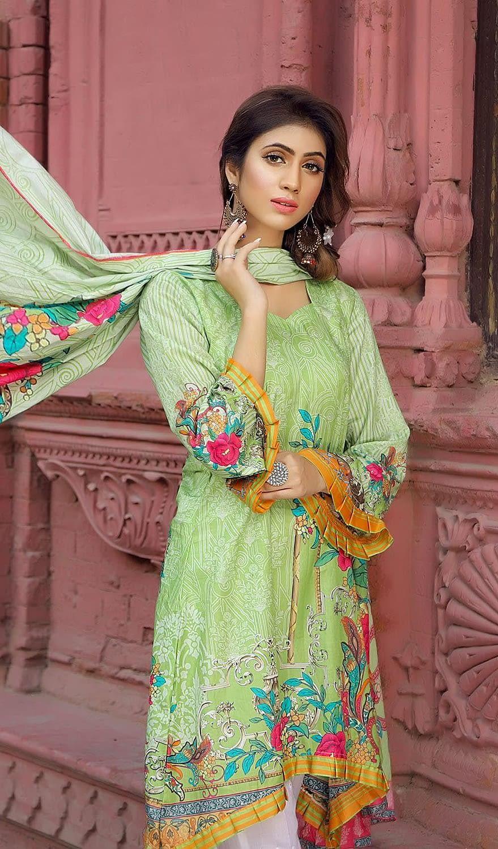 Fashionable Unstitched Maya 2 pcs - BB14 - 7BB